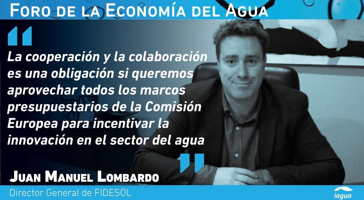 "Juan Manuel Lombardo: ""España ha conseguido ser pionera tecnologías agua"""
