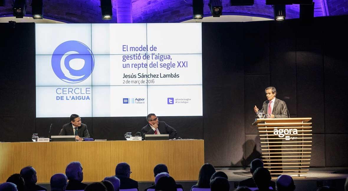 """Sánchez Lambás: """" siglo XXI es cooperación público-privada gestión agua"""""""