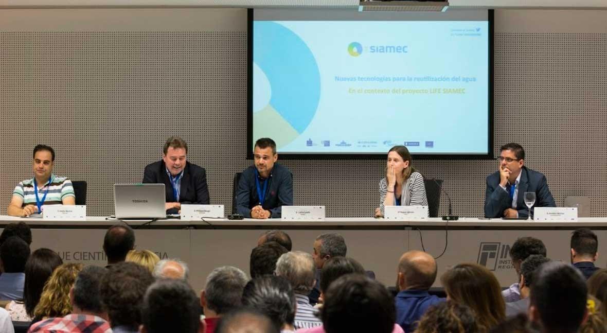 LIFE SIAMEC: Nuevas tecnologías reutilización agua, debate