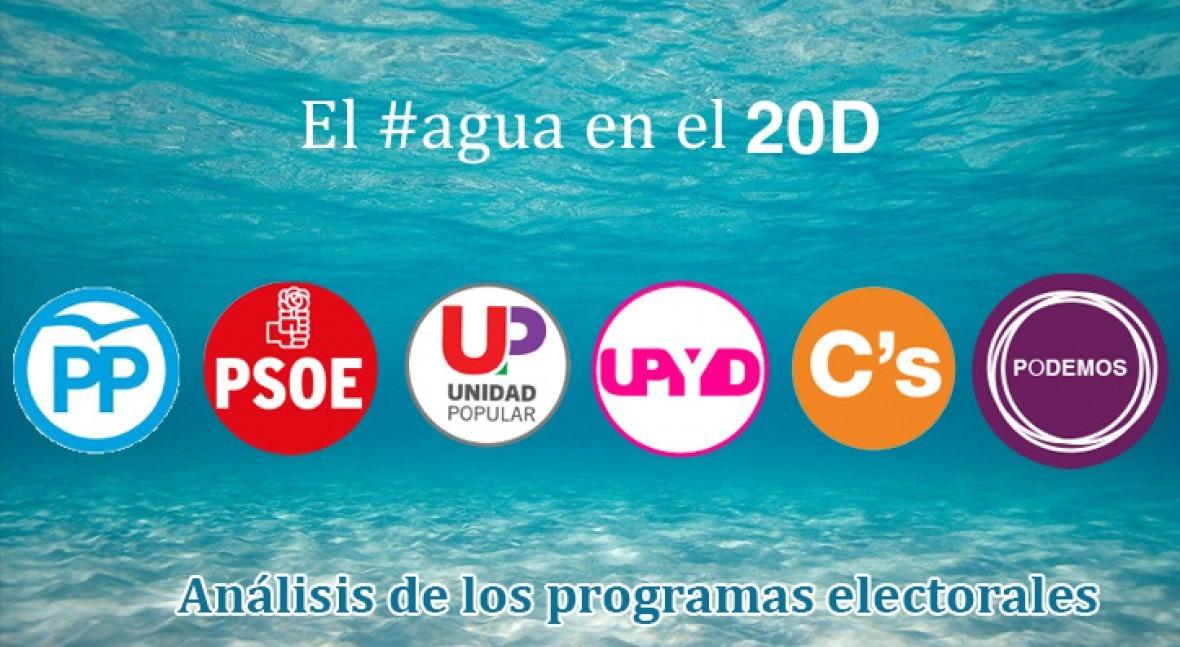 agua programas electorales elecciones generales 2015