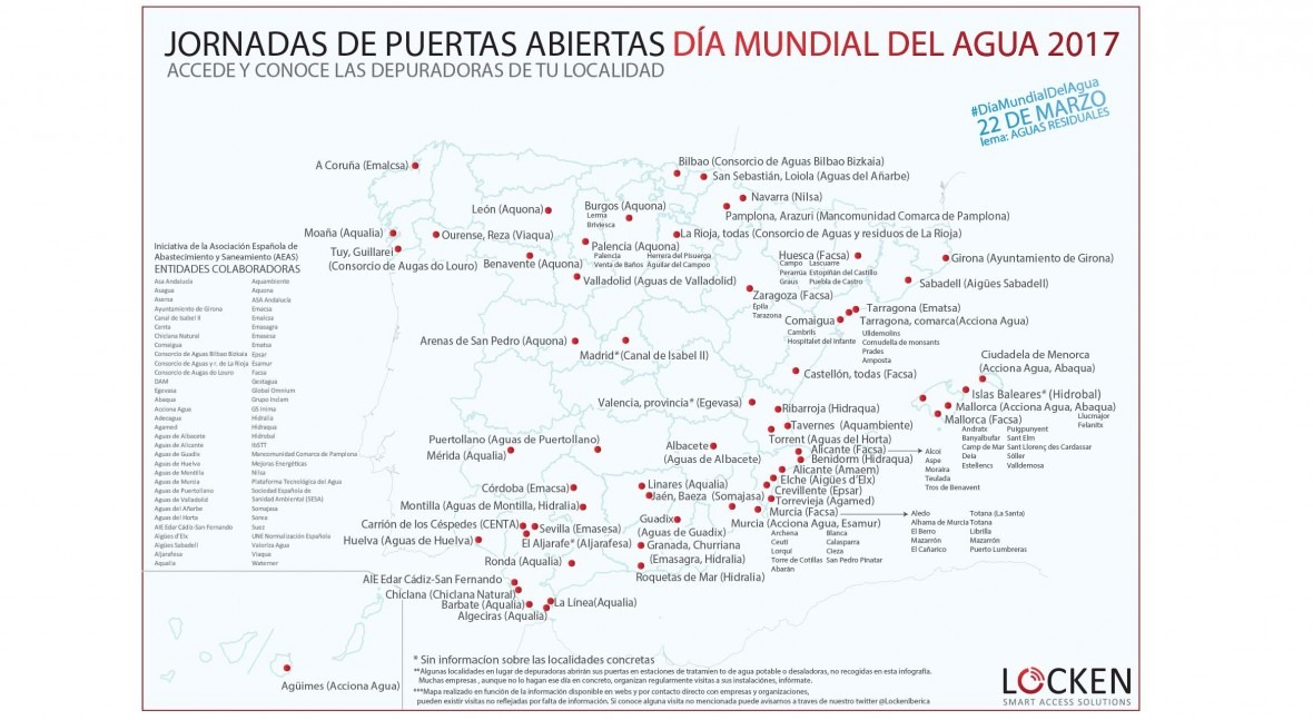 Mapa depuradoras abiertas Día Mundial Agua 2017