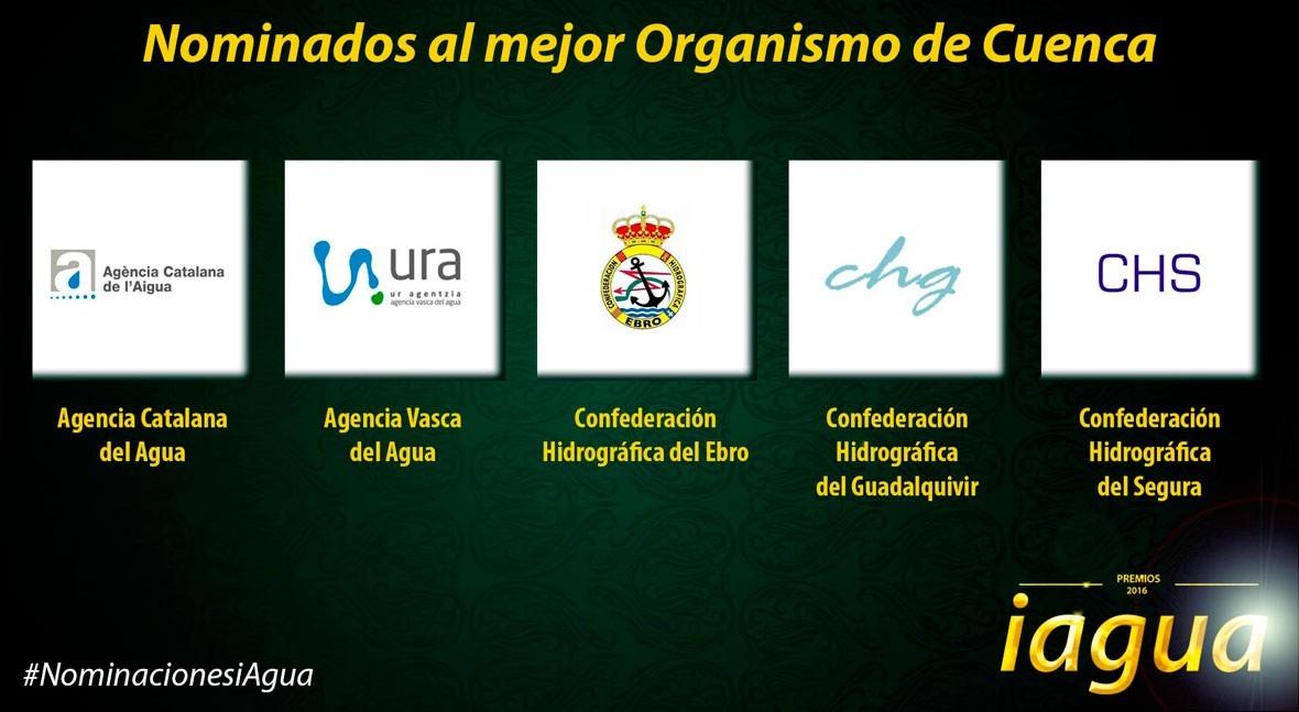 Conoce 5 candidatos Mejor Organismo Cuenca Premios iAgua 2016