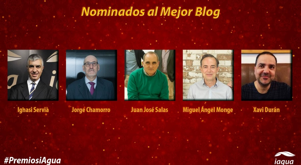 Descubre cinco profesionales que se disputan Premio iAgua al Mejor Blog