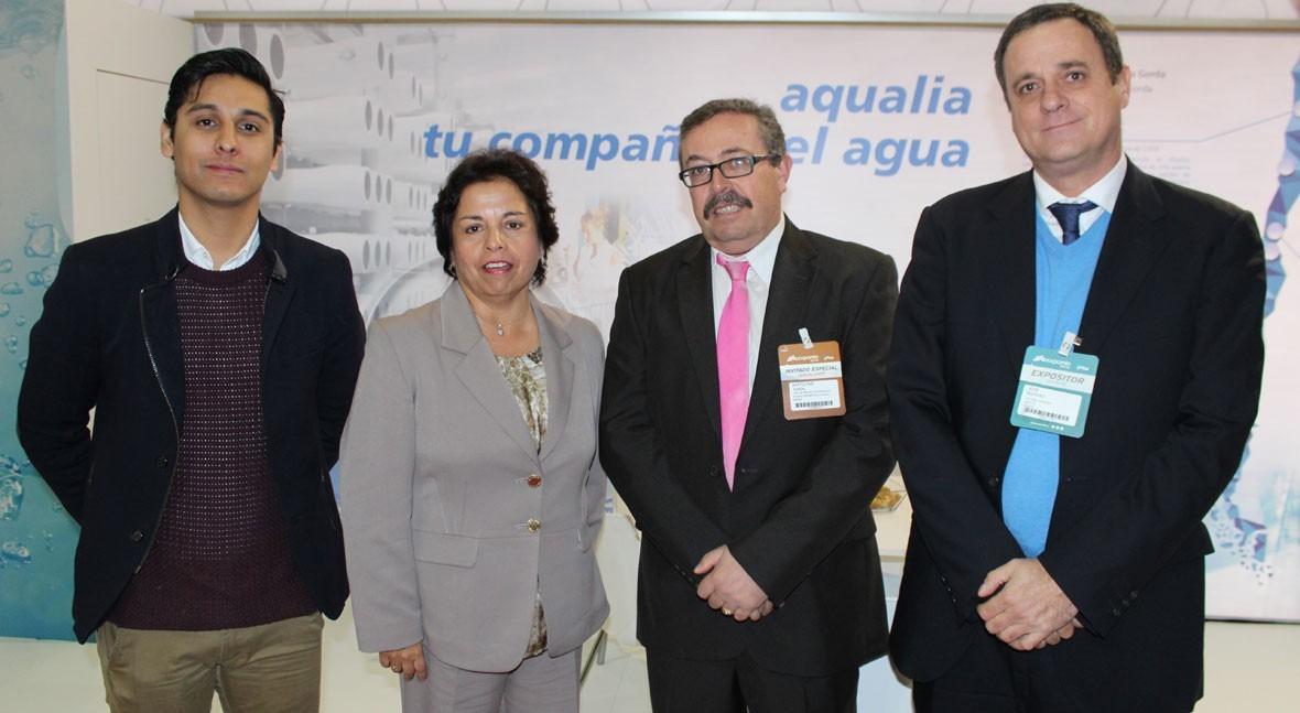 ministra Minería Chile se interesa planta reutilización Huechún Aqualia