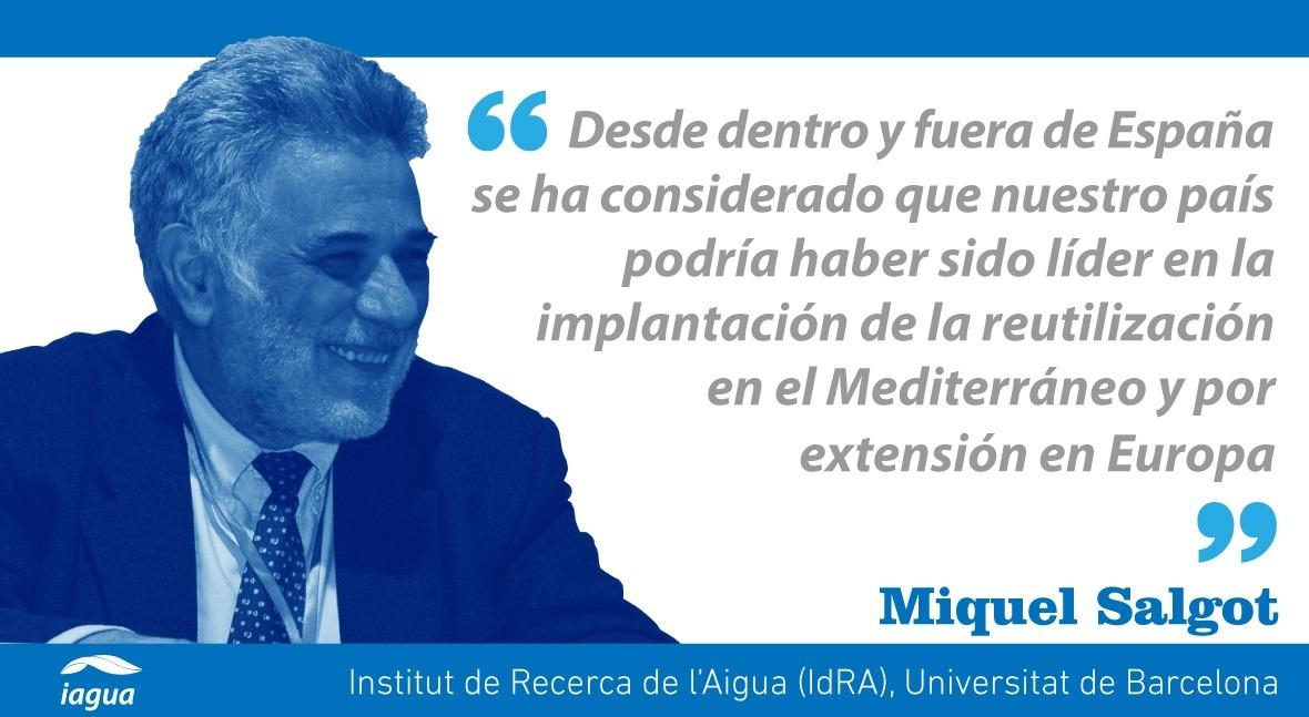 reutilización agua residual España, propaganda y realidad