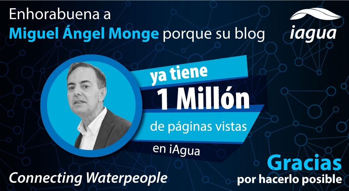Miguel Ángel Monge alcanza millón visitas blog iAgua