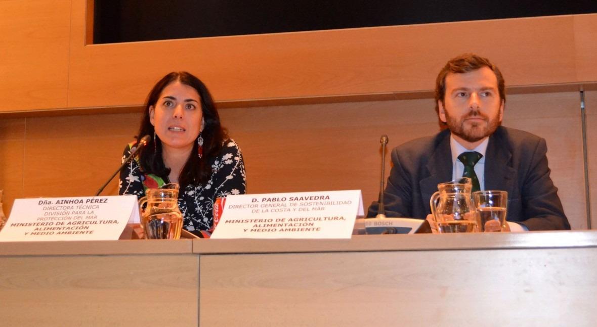 Pablo Saavedra, nuevo secretario de Estado de Medio Ambiente, en un acto sobre Basuras Marinas