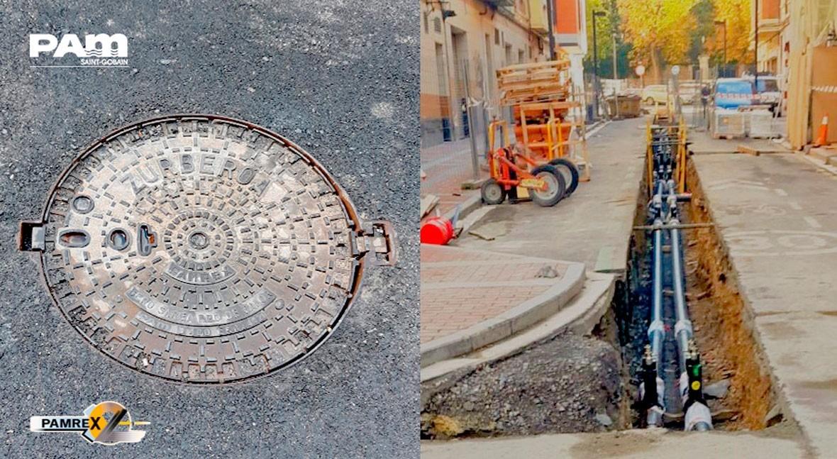 Registros F.D. PAMREX obras red calor ciudad Vitoria