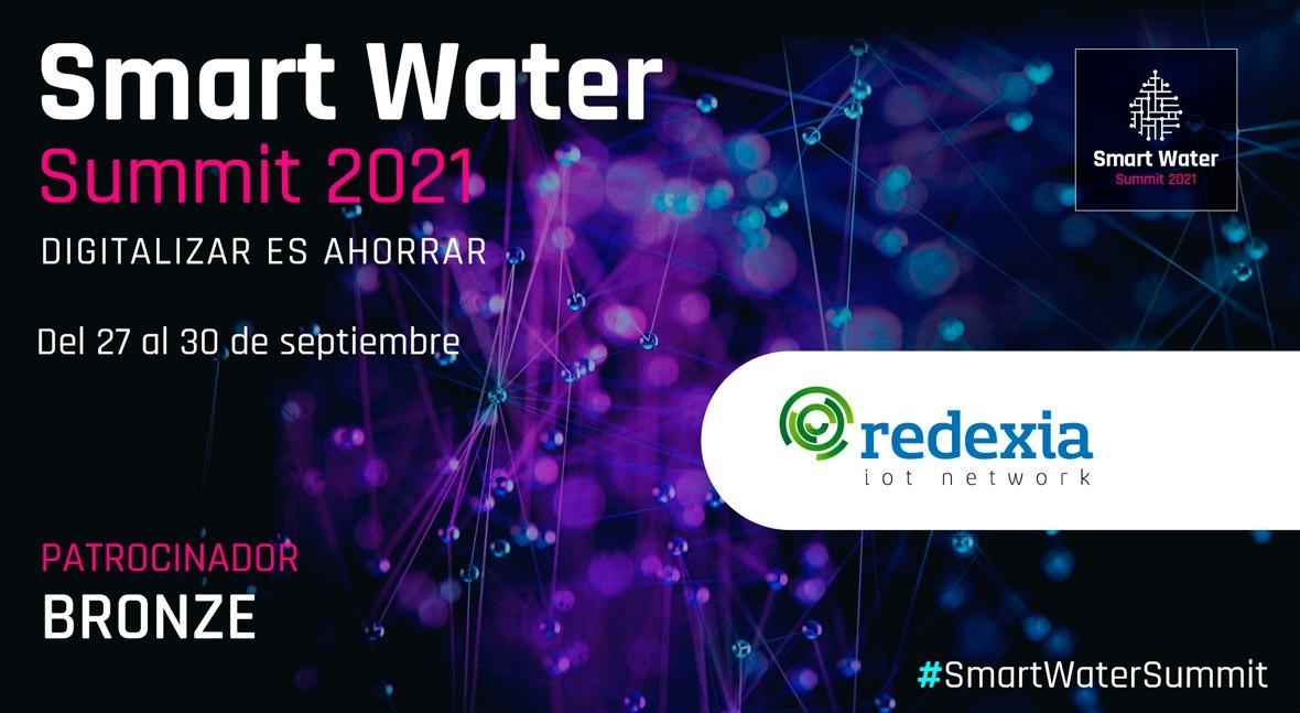 Redexia network será Bronze Sponsor Smart Water Summit 2021