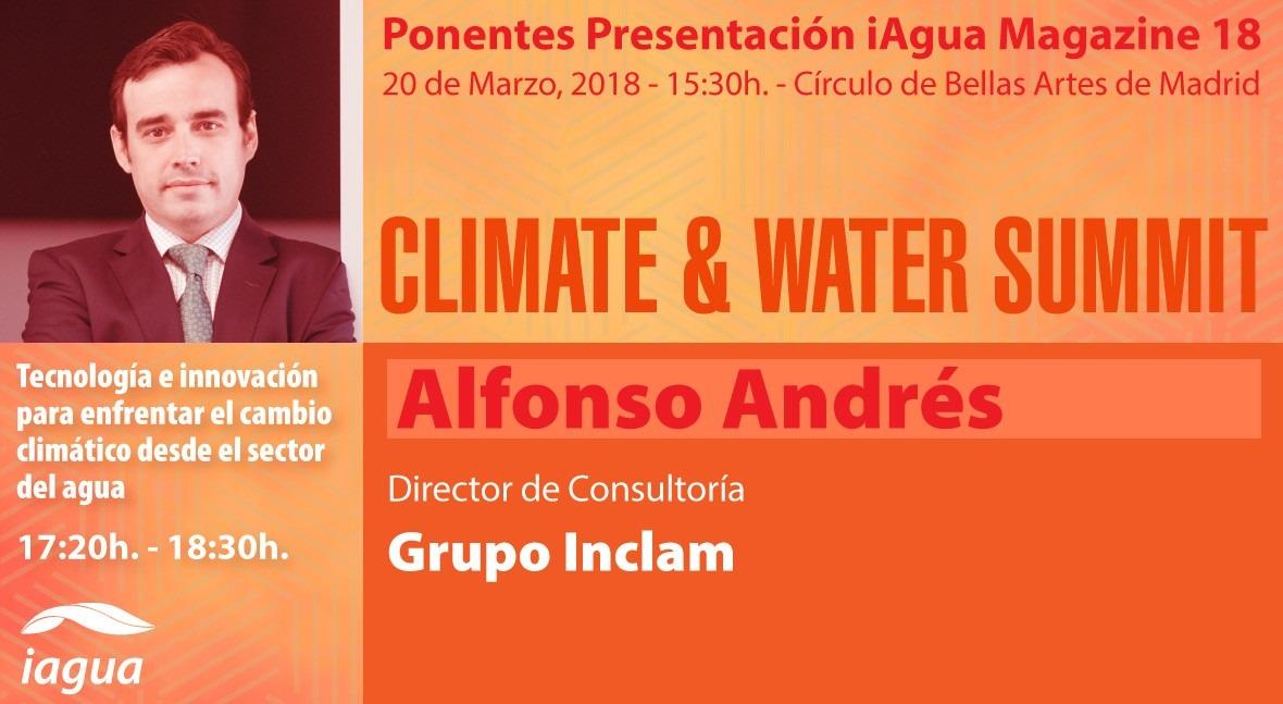 Alfonso Andrés Urrutia Grupo INCLAM participará Climate & Water Summit