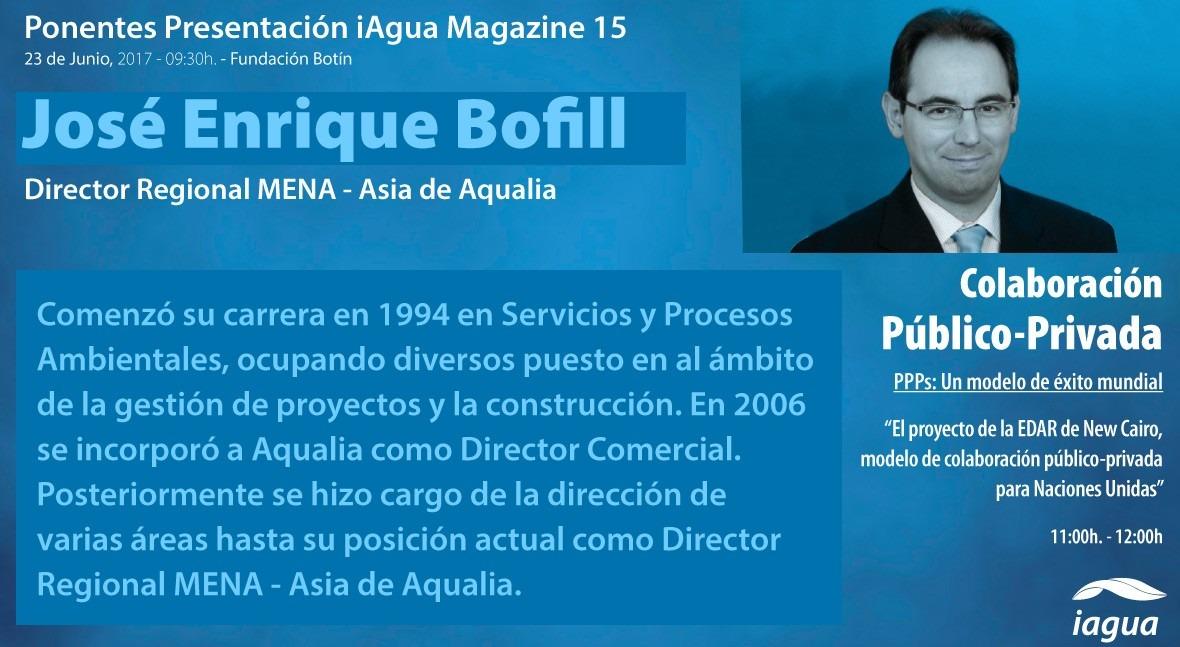 José Enrique Bofill Aqualia, ponente destacado presentación iAgua Magazine 15