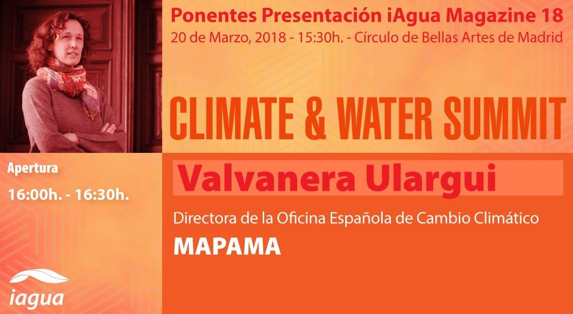 Valvanera Ulargui, Directora General OECC, participará Climate & Water Summit 2018
