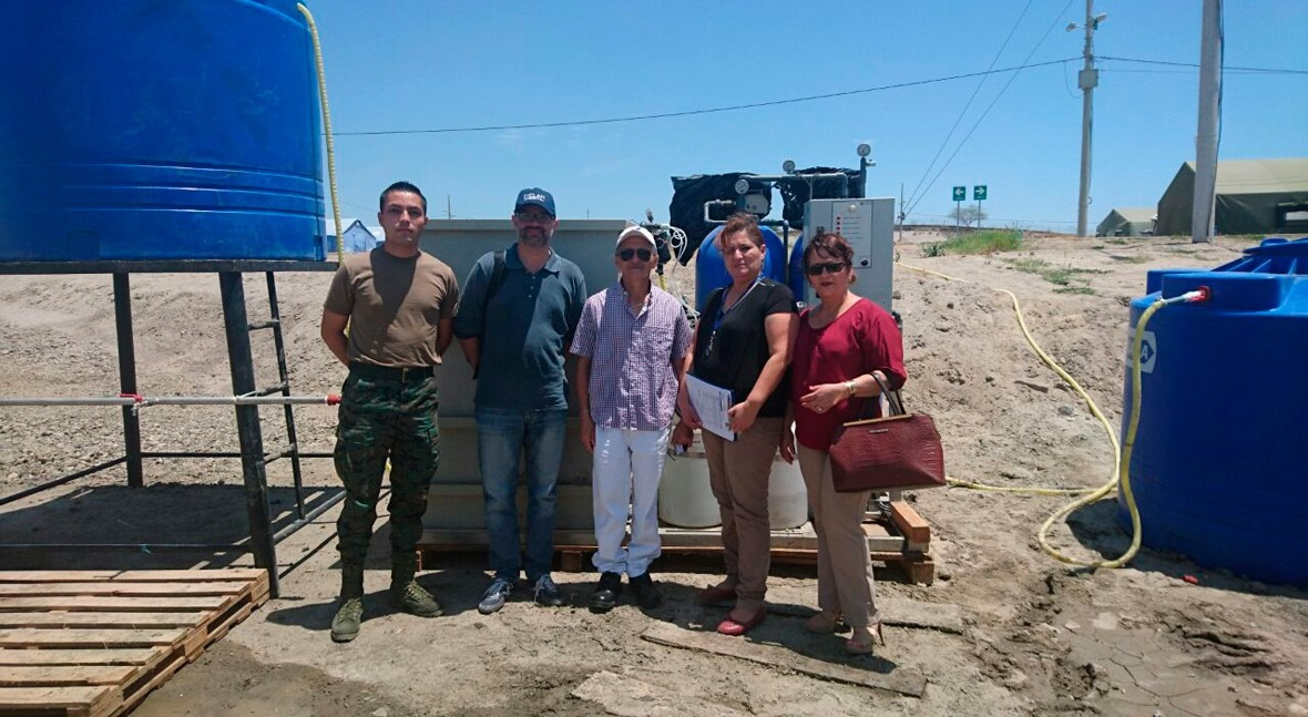 INCLAM lleva agua potable afectados terremoto Ecuador