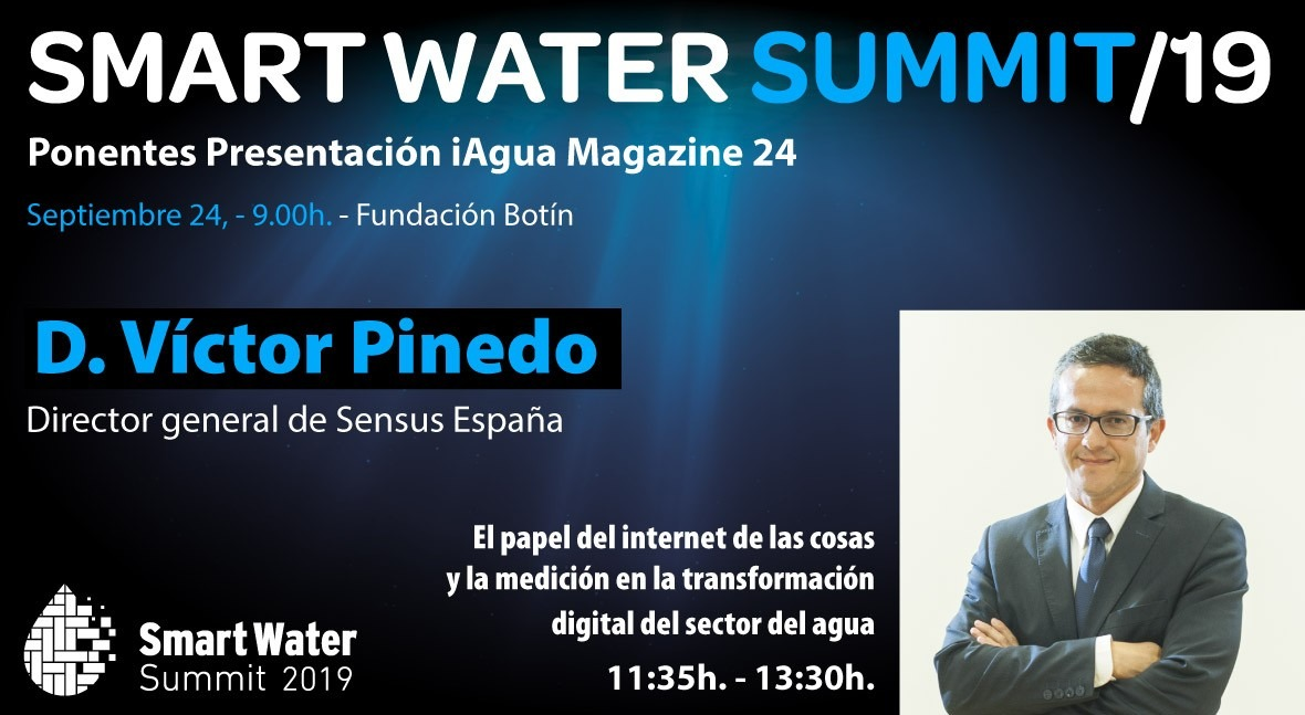 Víctor Pinedo, director general Sensus, ponentes Smart Water Summit 2019