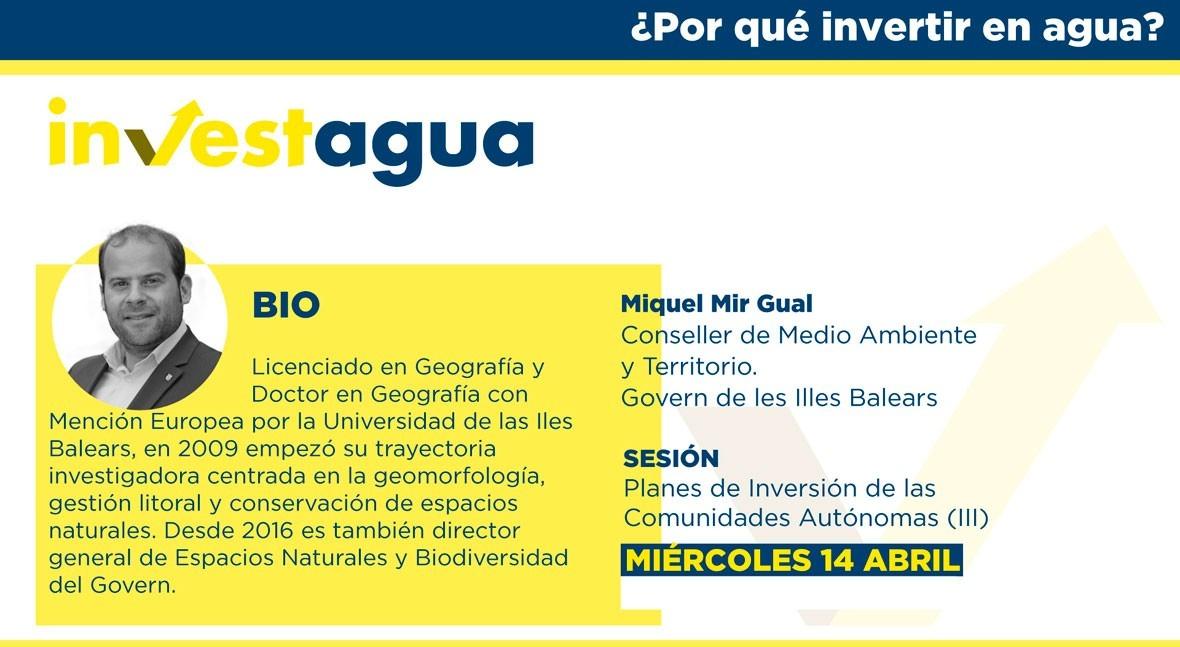 Baleares anuncia INVESTAGUA inversión 600 millones saneamiento y calidad agua