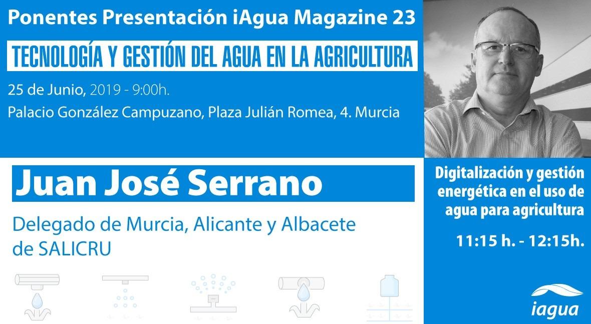 Juan José Serrano (Salicru), ponente presentación iAgua Magazine 23