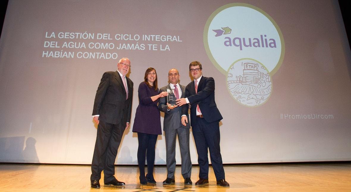 vídeo Aqualia descubrir ciclo agua, Premio Dircom Ramón Corral