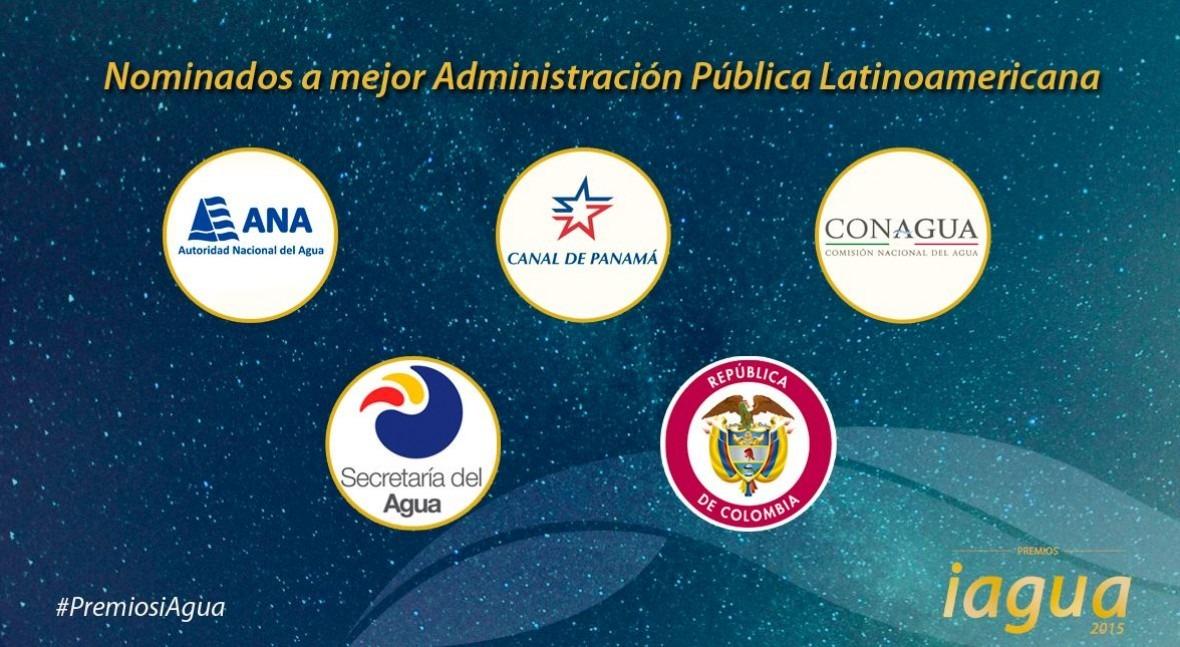 Premios iAgua estrena categoría: Mejor Administración Pública Latinoamericana