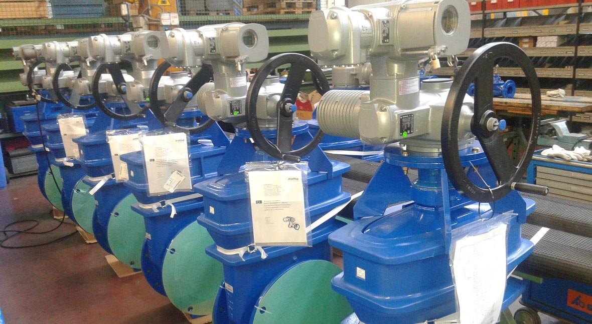 Saint-Gobain PAM España instala 28 válvulas compuerta motorizadas Variante Pajares