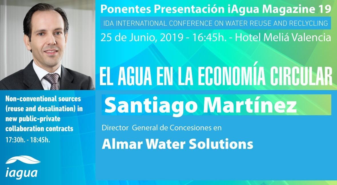 Santiago Martínez (Almar Water Solutions), ponente presentación iAgua Magazine 19