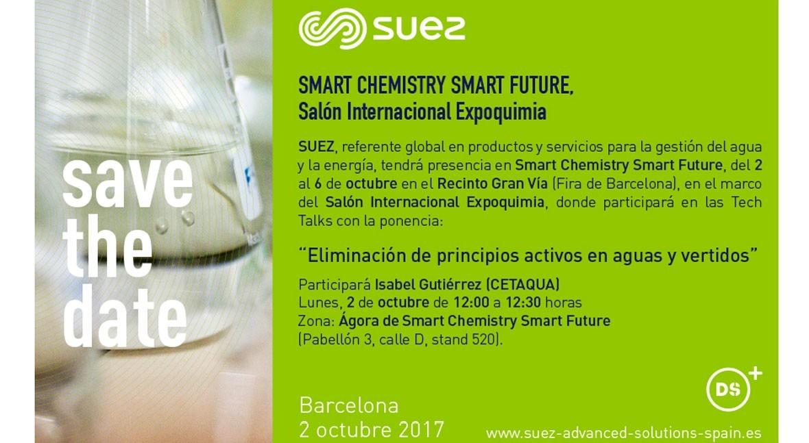 SUEZ participará foro encuentro química SMART CHEMISTRY SMART FUTURE