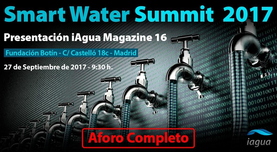 Aforo completo Smart Water Summit que se celebra mañana Madrid