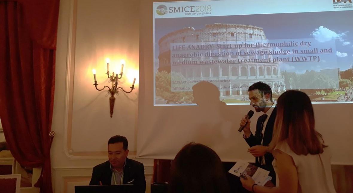 proyecto LIFE ANADRY, presente SMICE 2018 economía circular gestión lodos