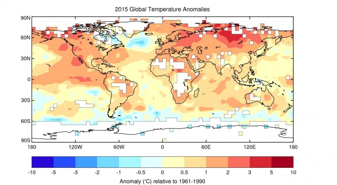 Organización Meteorológica Mundial confirma que 2015 es año más caluroso jamás registrado
