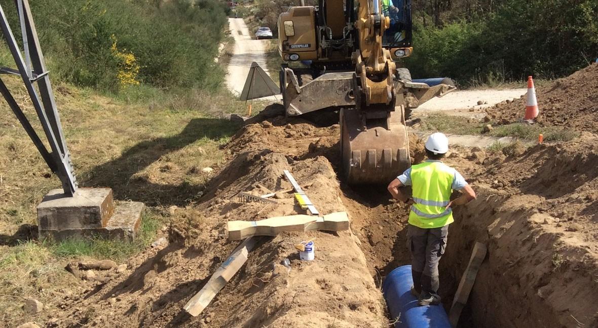 Saint-Gobain PAM España suministra tubería PAM natural unas obras Orense