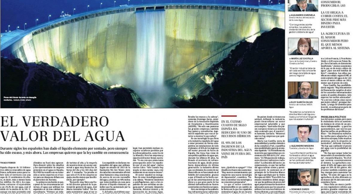 Alejandro Maceira destaca País milagro español agua y alerta falta inversión