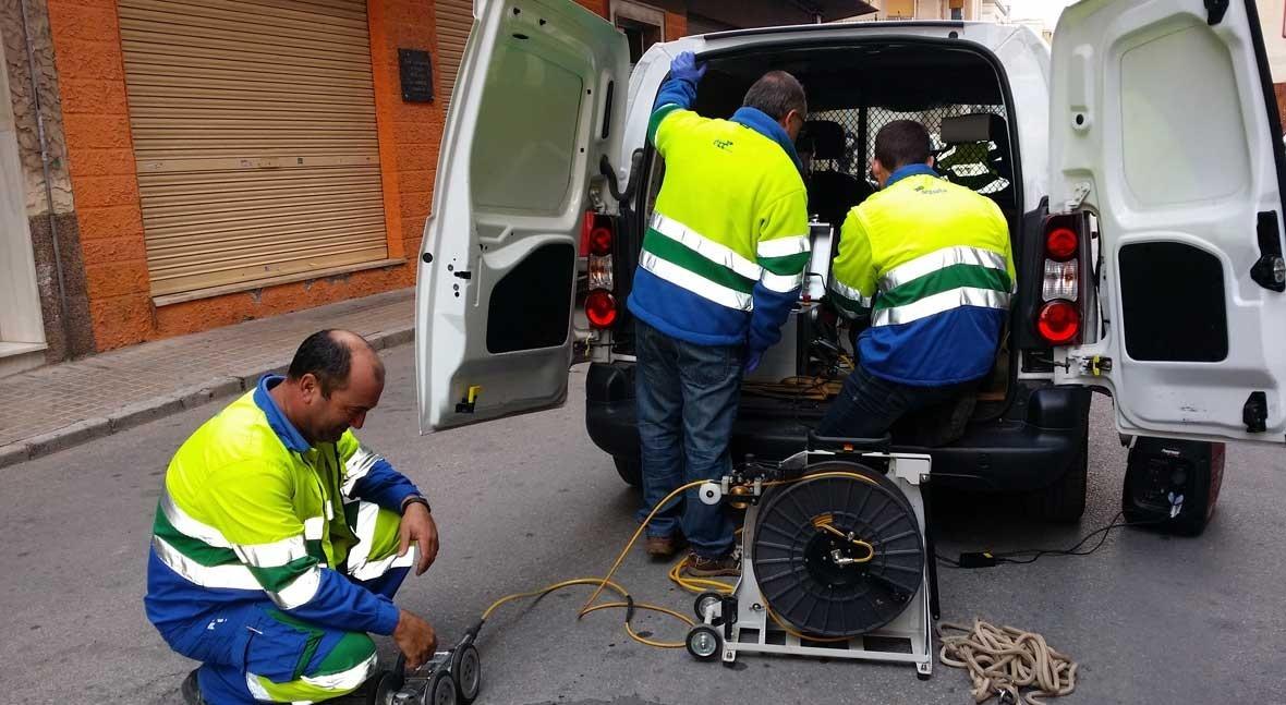 sistema videocámara inspecciona red alcantarillado Novelda, Alicante