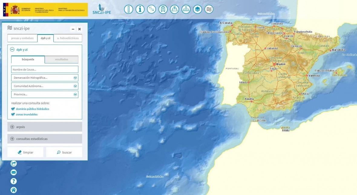 nuevo visor permite conocer zonas inundables España