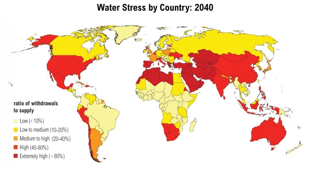 33 países más probabilidades tener escasez agua 2040