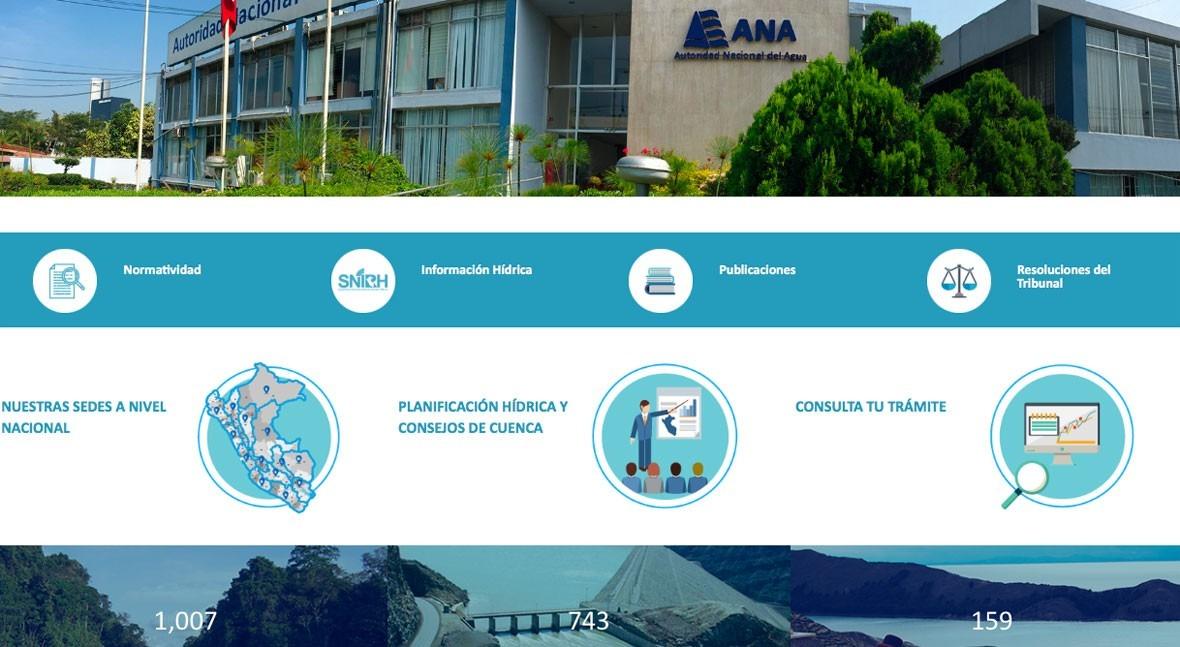nueva web ANA, ejemplo seguir