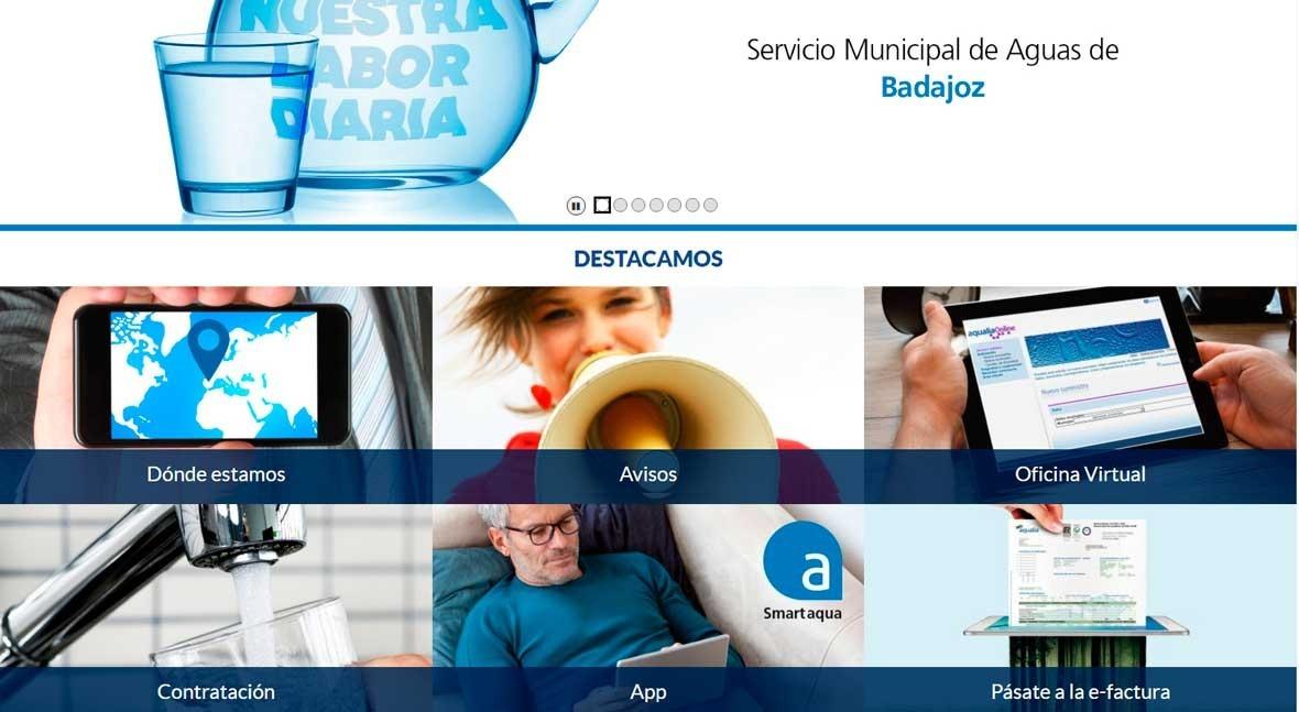 Aqualia estrena nueva web Badajoz