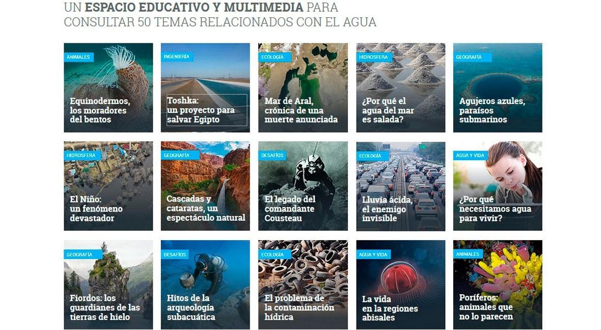 WikiExplora, web fichas informativas agua Fundación Aquae