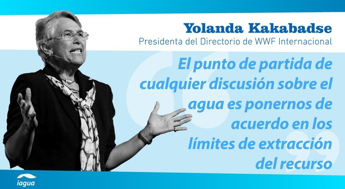 """Yolanda Kakabadse: """"América Latina es región privilegiada cuanto disponibilidad agua"""""""