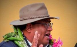 marcha proyectos agua y riego Ayllu Hampaturi, Bolivia
