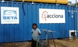 ACCIONA pone marcha potabilizadora comunidad Wiwa Seyamake, Colombia