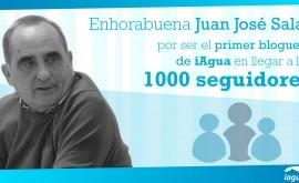 Juan José Salas, primer blogger alcanzar 1.000 seguidores iAgua
