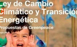 Conoce propuestas Greenpeace Ley Cambio Climático y Transición Energética
