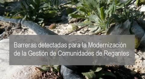 Barreras detectadas Modernización Gestión Comunidades Regantes