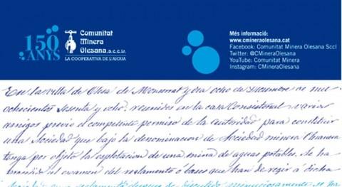 Histórico Acto Institucional 150º aniversario Comunitat Minera Olesana