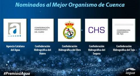 Estos son 5 candidatos Mejor Organismo Cuenca Premios iAgua 2017