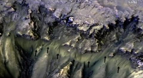 NASA confirma existencia agua salada Marte
