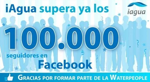 iAgua refrenda liderazgo mundial redes sociales al superar 100.000 Me Gusta Facebook