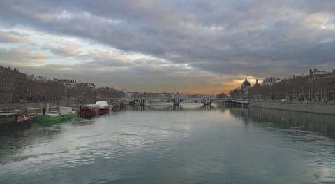 Río Ródano a su paso por Lyon (Wikipedia/CC)