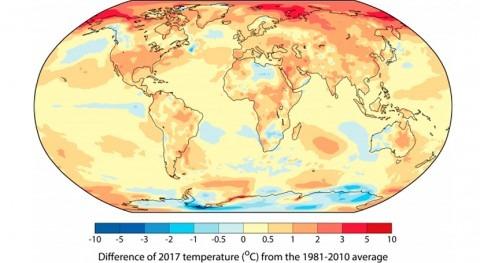 Confirmado que 2017 es tres años más cálidos que se tienen datos