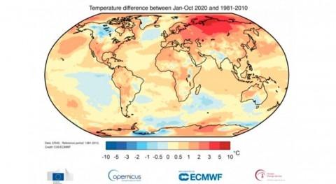 año 2020, camino ser tres años más cálidos registrados