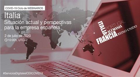 Webinario Italia-Covid19: situación actual y perspectivas empresa española